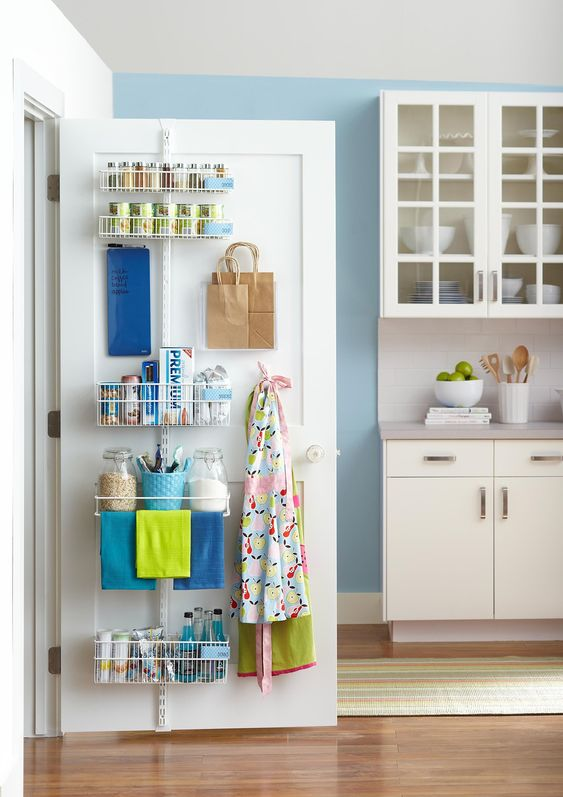 Pantry Organization Ideas - Store Behind Your Door